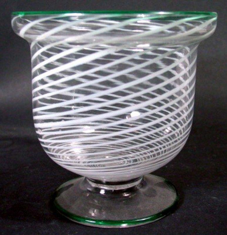American South Jersey Glass Sugar Bowl  c1850