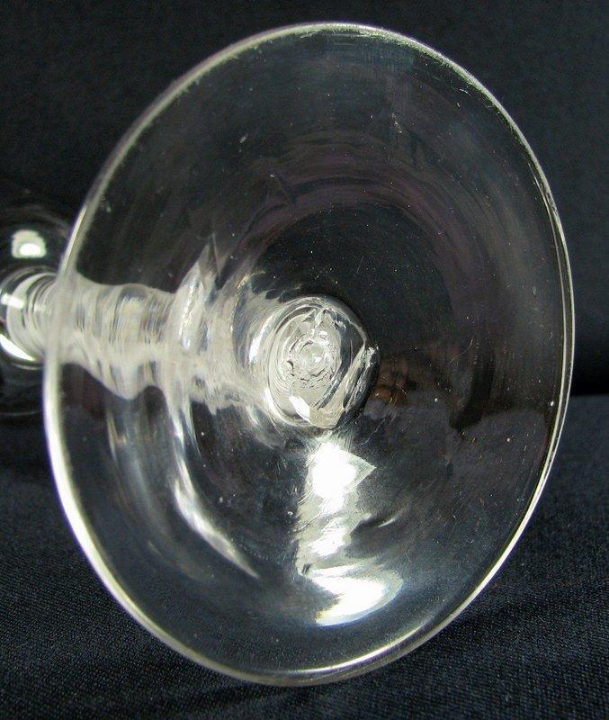 c1765  English DSOT Opaque Twist Wine Glass