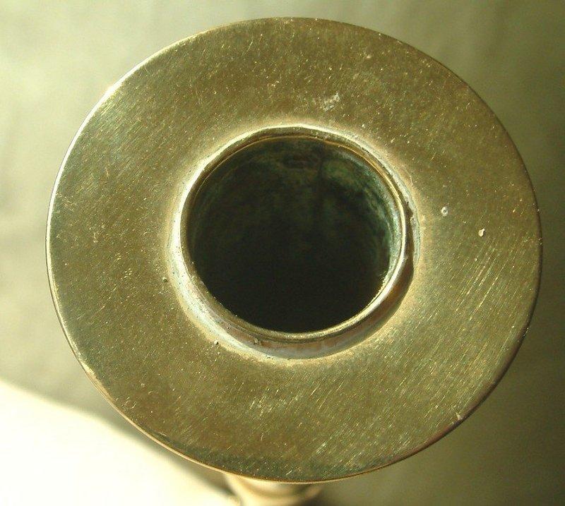 Tall Brass Pulpit Candlesticks  c1820