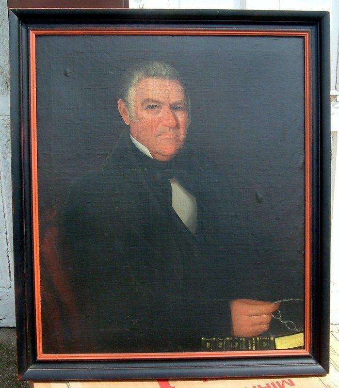 Superb Ammi Phillips American Folk Art  Portrait  c1840
