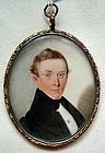 Miniature Painting by Samuel Broadbent  c1840