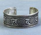 Tibetan Silver hand made Bangle Bracelet