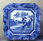 Japanese Blue & White  transfer Porcelain Platter