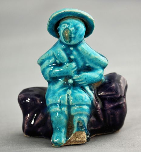 Chinese Porcelain Figure with hat
