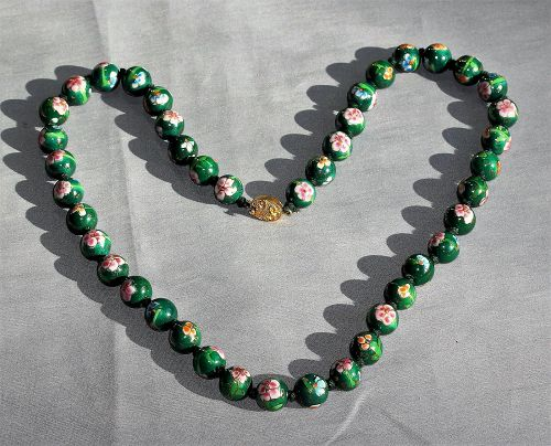 Chinese porcelain strand Necklace