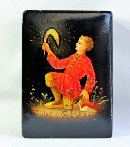 """Russian Lacquer Box, dated & signed """"1973"""" by artist"""