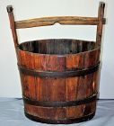 Chinese wood water Bucket with handle