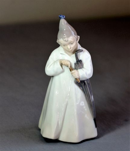 Royal Copenhagen Danish Porcelain Boy Figurine