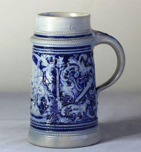 German Stoneware Stein/Tankard
