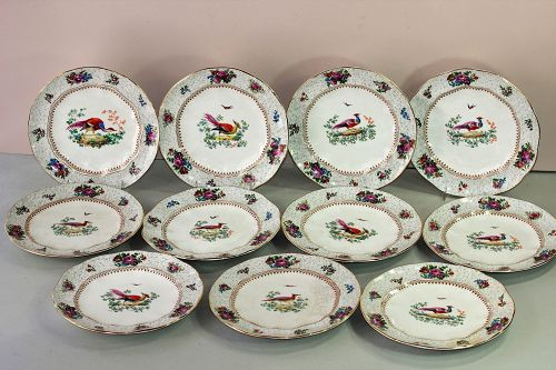 """11 English """"Booths"""" Game Plates, retailed by """"Tiffany & Co."""""""