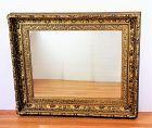 Gold large Mirror, deep multiple step, gilt on carved wood