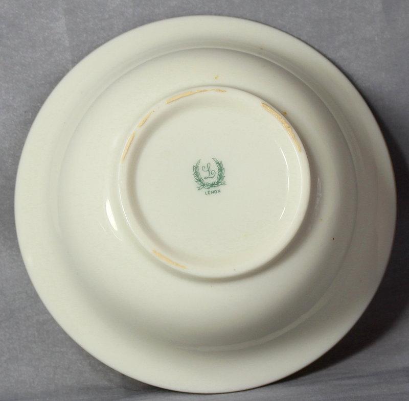 7 large Lenox Porcelain Inserts for Cream Soup for sterling holder