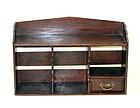 Japanese Pine merchant shelf with drawer
