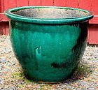 Chinese Green Pottery large Fish Bowl