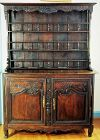 French Country Louise XV period hand carved dark Oak Cupboard Buffet