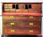 China Trade Butler's Desk, Rosewood with Brass Hardware