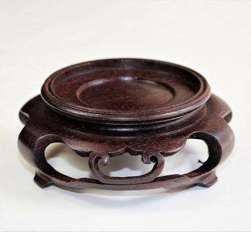 Chinese Hardwood round brown display Stand