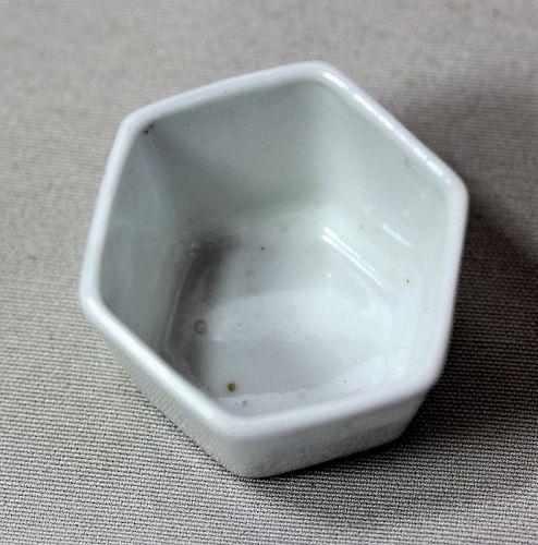 White Porcelain Hexagonal shape Bowl