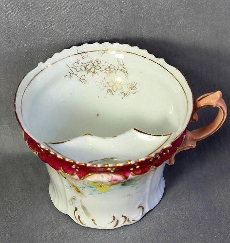 European Porcelain Mustache Cup