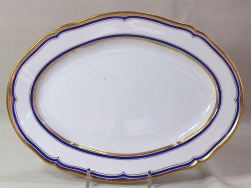 German KPM Royal Berlin Porcelain oval serving Platter