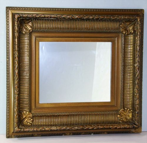 American Gold on Wood Framed Mirror