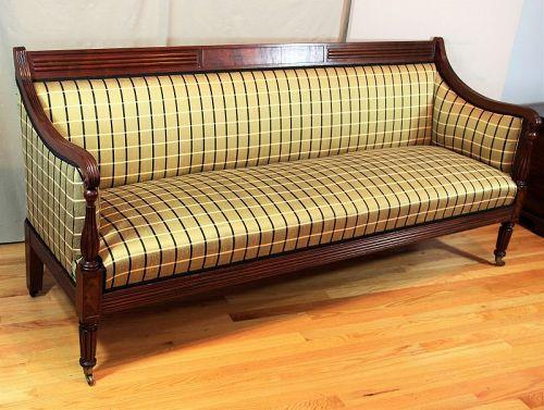 American Sheraton style Mahogany Sofa