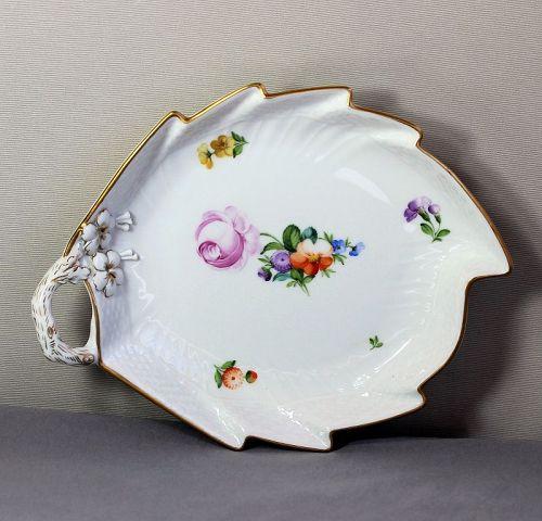 Royal Copenhagen Porcelain Leaf shape serving Dish
