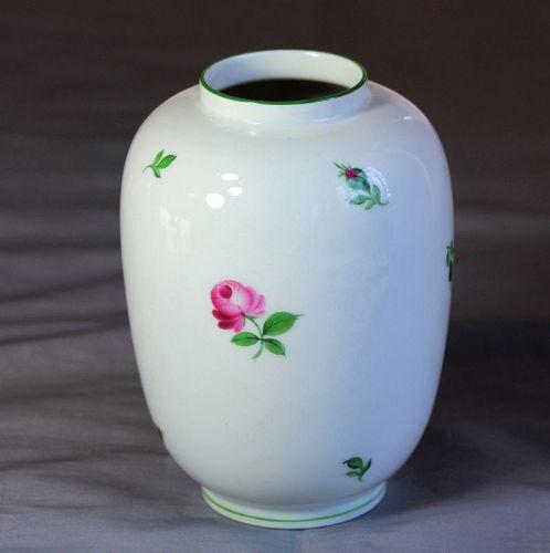 """Austrian """"Wien"""" Porcelain Vase, Rose decorated"""