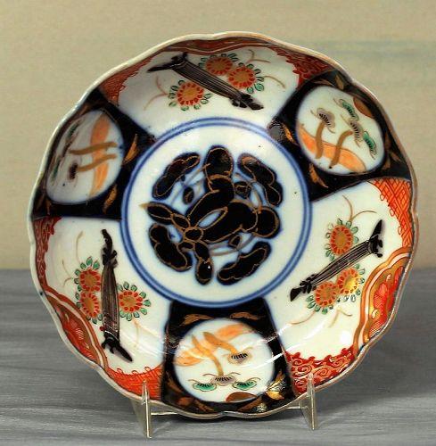 Japanese Imari Porcelain Dish, Scalloped