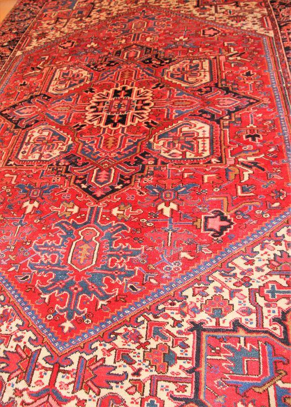Persian Heriz Carpet, hand knotted wool Oriental Rug