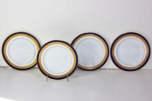 Four(4) Lenox Porcelain Bread & Butter Plates, green mark