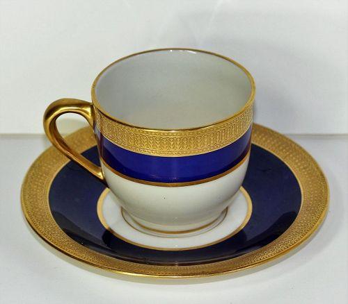 Lenox Porcelain Demitasse Cup & Saucer, green mark