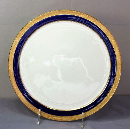 Lenox Porcelain Charger, cobalt blue & gold, green mark