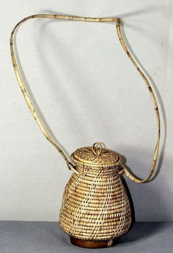 Japanese Reed & Bamboo Ikebana Flower hanging Basket