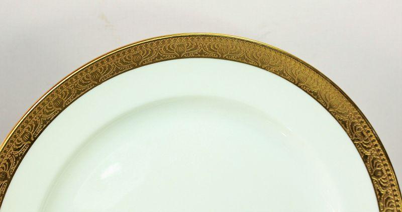 "12 Lenox Gold Rim Luncheon Plates, 8""/C2"