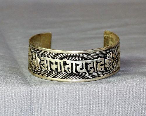Tibetan Silver Bangle Bracelet