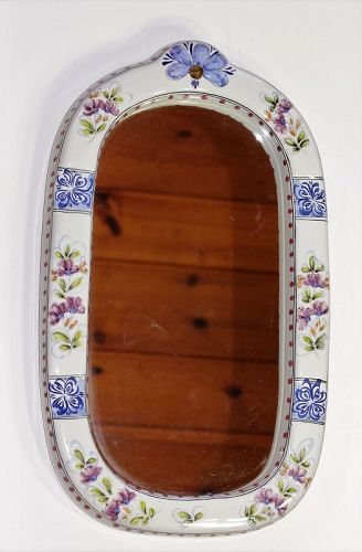 Portuguese Ceramic Hand Painted Mirror