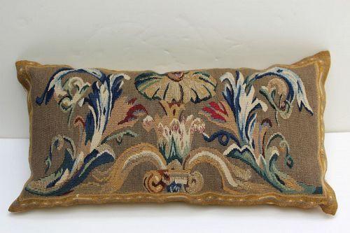 Wool Aubusson Pillow, Cushion
