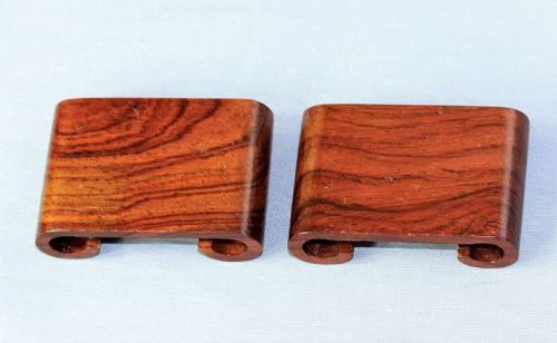 Pair Chinese Hardwood Scroll shape small Display Stand