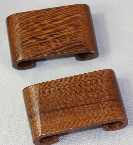 Pair Chinese Hardwood small Scroll shape Display Stand