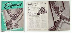 VINTAGE HANDKERCHIEF EDGINGS BOOK NO 256 DATED 1949