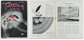 VINTAGE TATTING PATTERN INSTRUCTION BOOK NO 297 DATED 1944