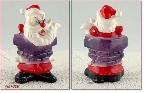 Vintage Kreiss Psycho Santa Figurine