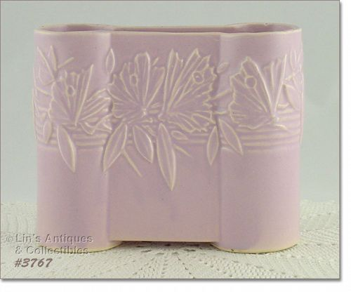 McCoy Pottery Butterfly Line Castle Gate Vase Pale Lilac