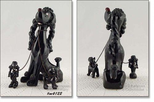 Kreiss Vintage Black Spaghetti Dog and Babies