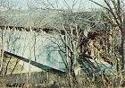 Covered Bridge Postcard Blue Creek Indiana