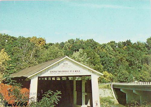 Covered Bridge Postcard Montgomery County Indiana