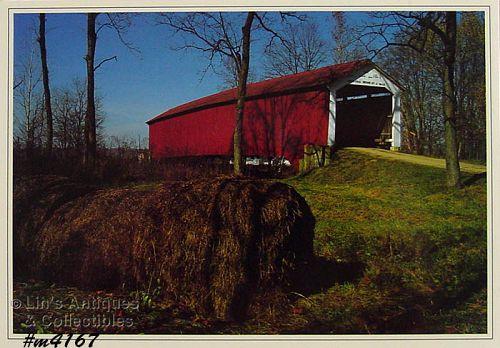 Vintage Postcard Covered Bridge Parke County Indiana