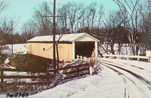 Vintage Postcard Covered Bridge Ashtabula Ohio
