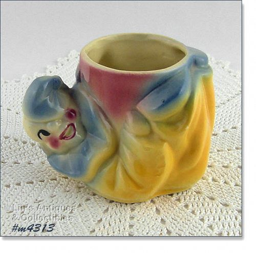 SHAWNEE POTTERY VINTAGE JOJO THE CLOWN PLANTER